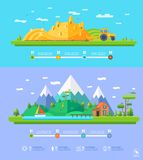 Conception plate d'éléments infographic d'illustration d'écologie de vecteur Photos stock