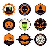 Conception plate d'ensemble d'élément de conception de Halloween Photographie stock
