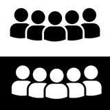 Conception plate d'icône de personnes Photo libre de droits