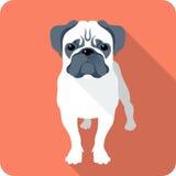 Conception plate d'icône de chien Photos libres de droits