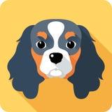 Conception plate d'icône de chien illustration libre de droits