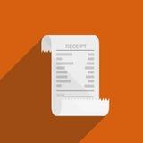 Conception plate d'icône de facture de reçu photo stock