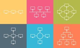 Conception plate d'illustration de connexion internet de topologie de réseau Photographie stock libre de droits
