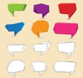 Conception plate de bulle de la parole de vecteur pour la communication Images libres de droits