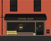 Conception plate de café de texture extérieure de brique Photos stock