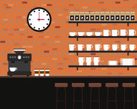 Conception plate de café de texture intérieure de brique Image libre de droits