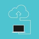 Conception plate de calcul de concept de nuage Photos stock