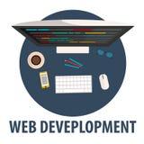 Conception plate de développement de Web développement de Web d'illustration Profession indépendante Photos libres de droits