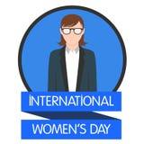 Conception plate 5 de femmes d'illustration internationale de jour Photo libre de droits