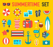 Conception plate de fond d'illustration d'icône d'été Images stock