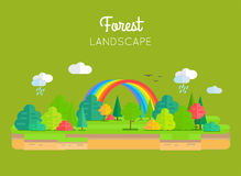 Conception plate de Forest Landscape Vector Concept In Photos stock
