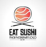 Conception plate de logo de style de restaurant de sushi pour l'entreprise alimentaire illustration de vecteur