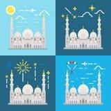 Conception plate de mosquée grande Abu Dhabi de Sheikh Zayed Images stock
