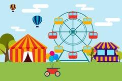 Conception plate de parc à thème d'amusement Photo libre de droits