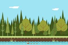 Conception plate de rivière de concept en bois sans couture de nature Photographie stock libre de droits