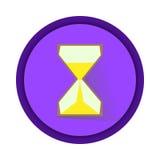 conception plate de sablier d'icône Photos libres de droits