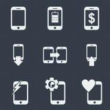 conception plate de seo de site Web d'icône de smartphone, icône d'instrument Image stock