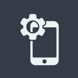 conception plate de seo de site Web d'icône de smartphone, icône d'instrument Image libre de droits