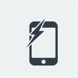 conception plate de seo de site Web d'icône de smartphone, icône d'instrument Photographie stock libre de droits