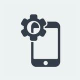 conception plate de seo de site Web d'icône de smartphone, icône d'instrument Images stock