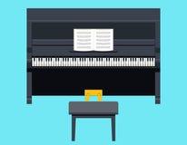 Conception plate de symbole de concept d'icône de piano sur élégant Photo libre de droits