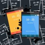 Conception plate de téléphone Photographie stock libre de droits