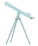 Conception plate de télescope Images libres de droits