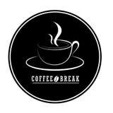 Conception plate de vecteur de logo de café logo de café d'isolement sur le CCB blanc Image libre de droits