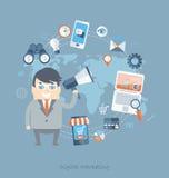 Conception plate des affaires pour le marketing numérique Photo stock
