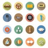 Conception plate des icônes de service de voiture réglées Image libre de droits