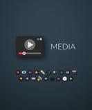 Conception plate moderne du style d'identité de marque Photographie stock libre de droits