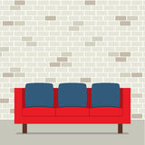 Conception plate moderne Sofa Interior Photographie stock