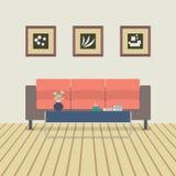 Conception plate moderne Sofa Interior Photographie stock libre de droits