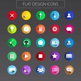 Conception plate - paquet d'icônes. Ligne simple icônes réglées Images stock