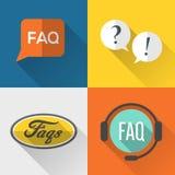 Conception plate réglée par icônes de FAQ Photographie stock