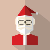 Conception plate Santa Claus Photo libre de droits