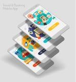 Conception plate UI sensible APP mobile avec les maquettes 3d Image libre de droits