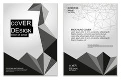 Conception polygonale de couvertures illustration libre de droits