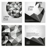 Conception polygonale de couvertures Les calibres d'affaires pour des sites Web, des copies, le bloc-notes, des couvertures de CD illustration libre de droits