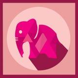 Conception polygonale de vecteur d'éléphant pourpre de couleur, illustration Image libre de droits