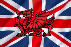 Conception possible pour le drapeau du Royaume-Uni Photo libre de droits