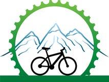 Conception pour des cyclistes de montagne Photo stock