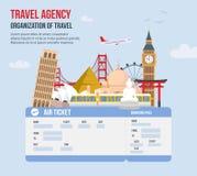 Conception pour l'agence de voyages Illustration de vecteur illustration libre de droits