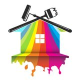 Conception pour la peinture de maison illustration de vecteur