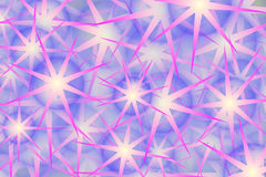 Conception pourprée d'étoile et de bulle Photo libre de droits