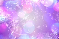 Conception pourpre de modèle de flocon de neige Images libres de droits