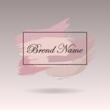 conception Pré-faite, bannière et filigrane de logo DES artistique de brosses illustration stock