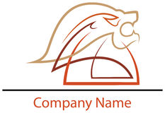 Conception principale de logo de lion Photographie stock libre de droits