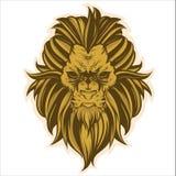 Conception principale de vecteur de lion illustration de vecteur
