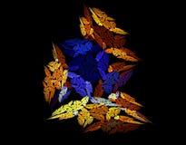 Conception produite par fractale, fond illustration de vecteur